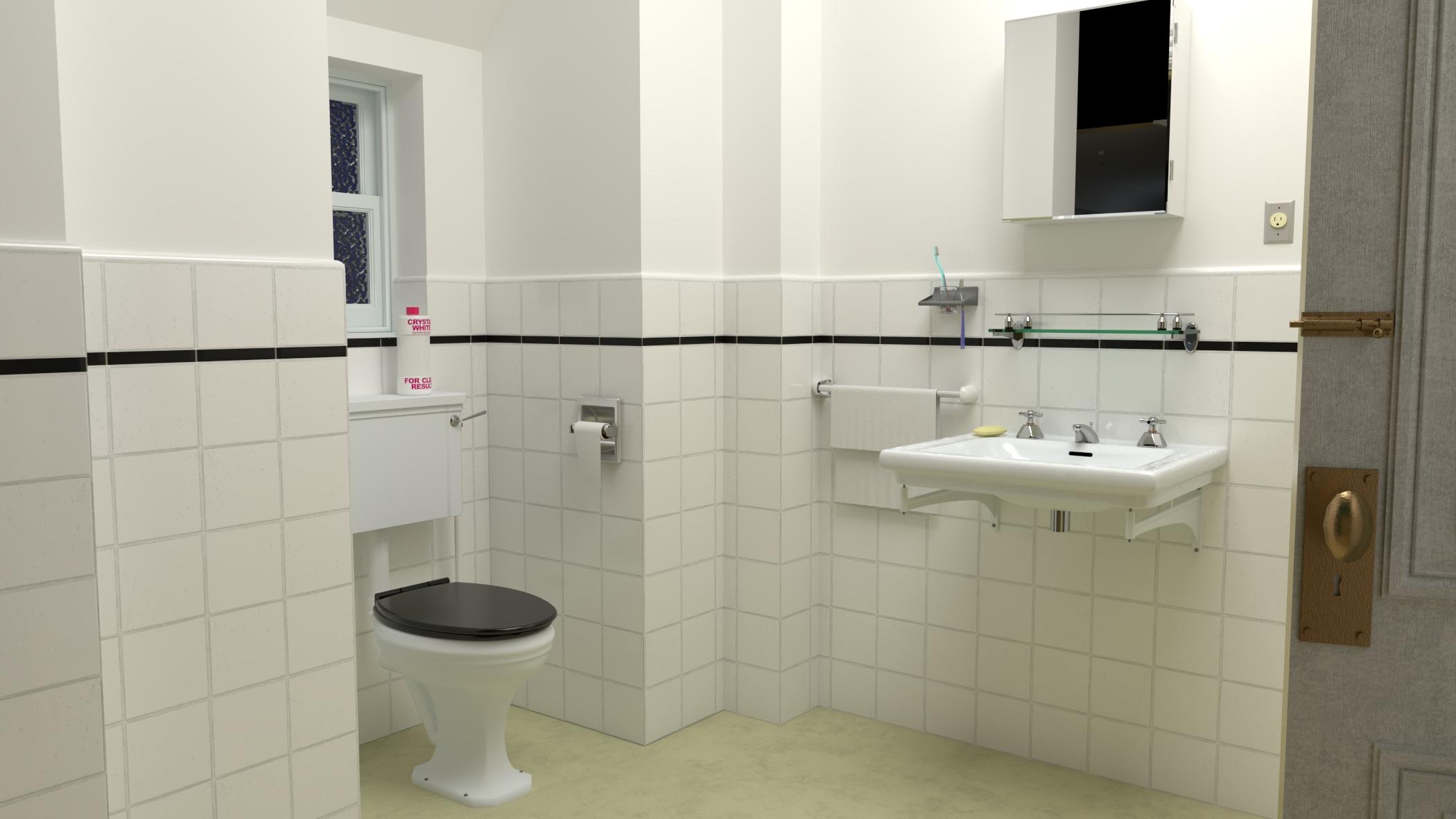 The bathroom of the Torrance family