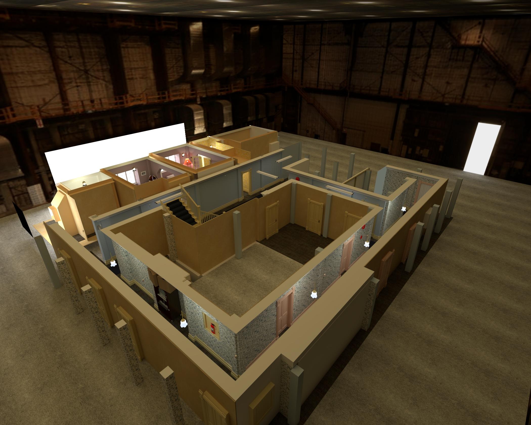 birdview of the apartment set