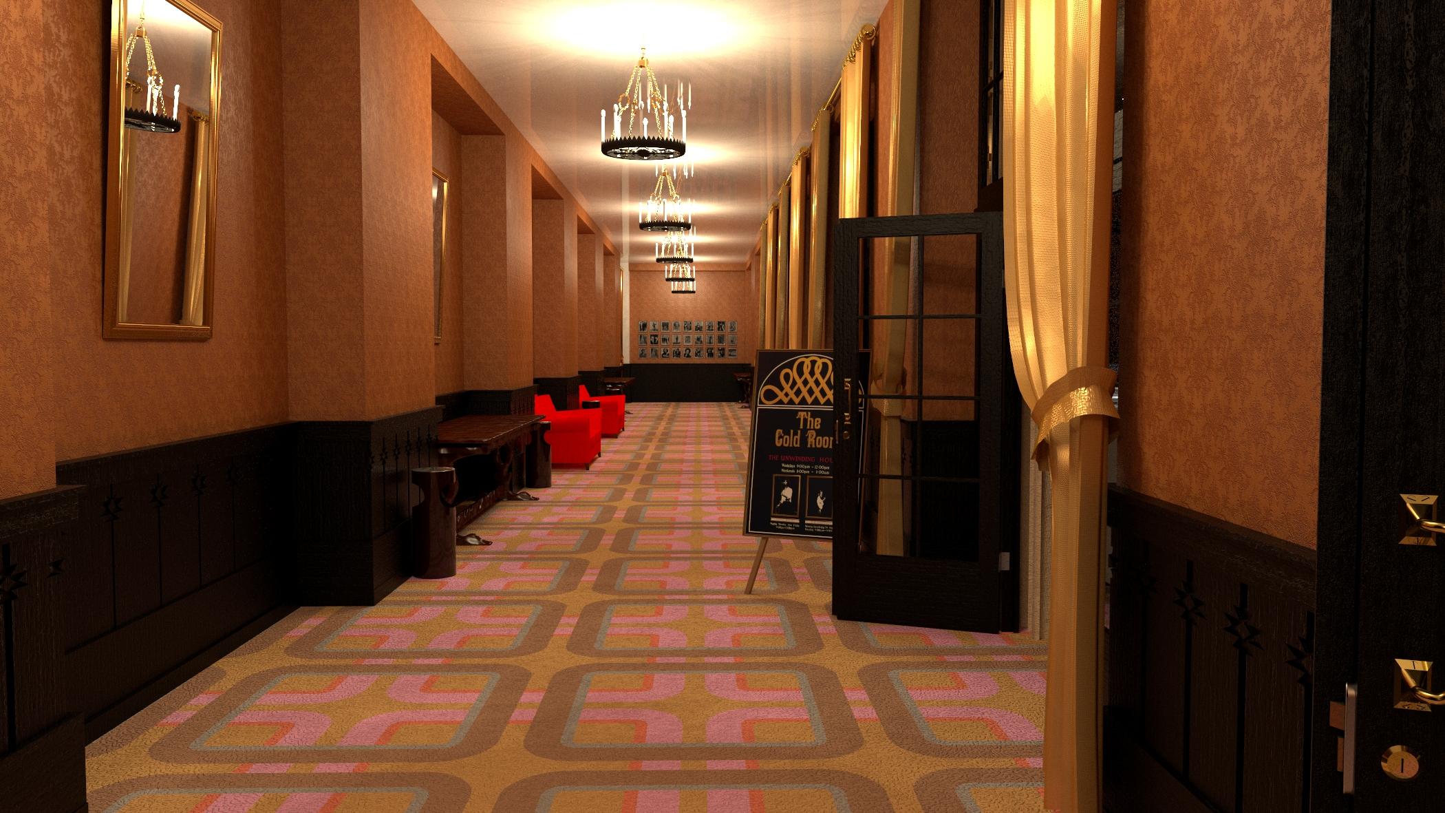 corridor of the goldroom
