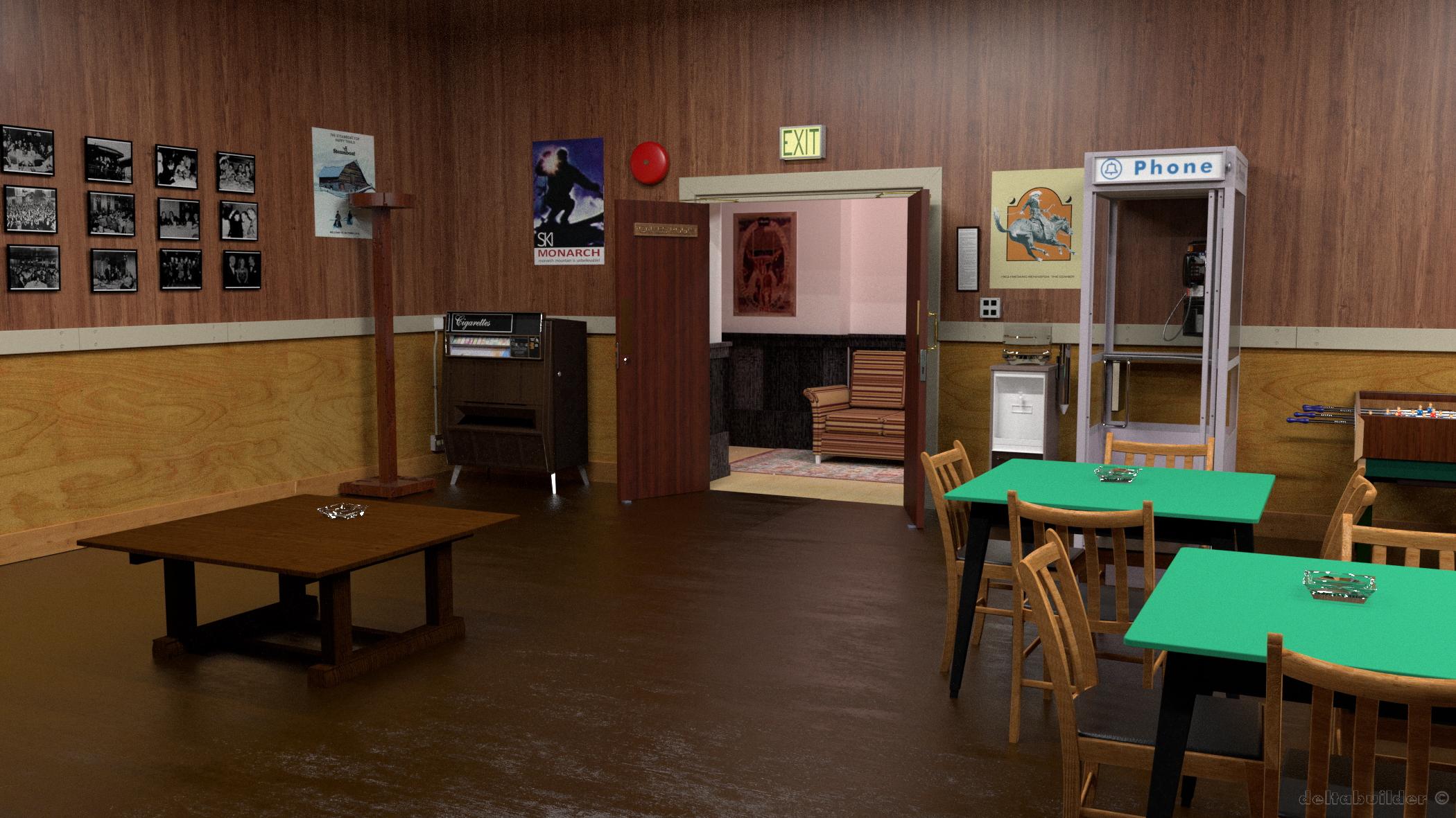 Gamesroom in one of the workshops