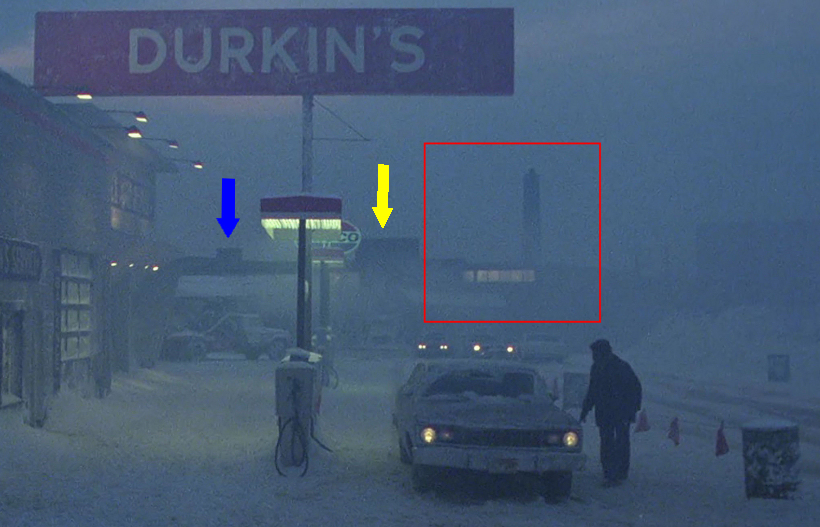 First scene at Durkin's Service Station