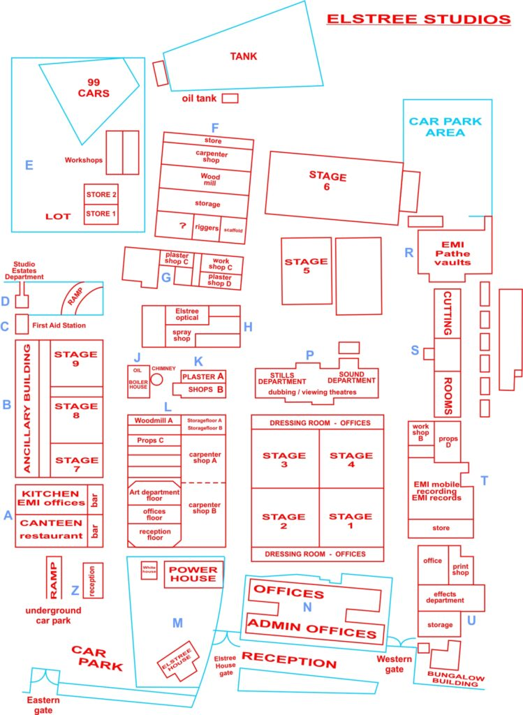 Elstree Studio plan